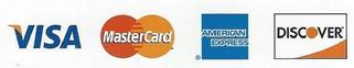 We now accept credit card payments, cash and check
